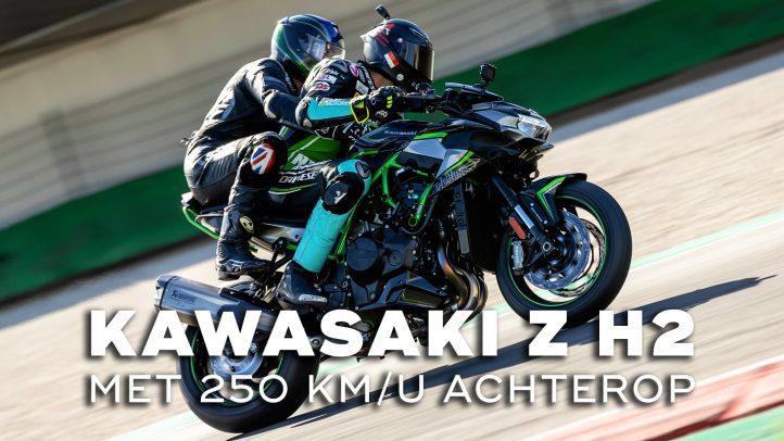 Met 250 km/u achterop bij de Kawasaki Z H2
