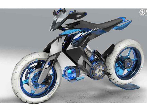 Yamaha XT 500 H2O Concept met wateraandrijving!