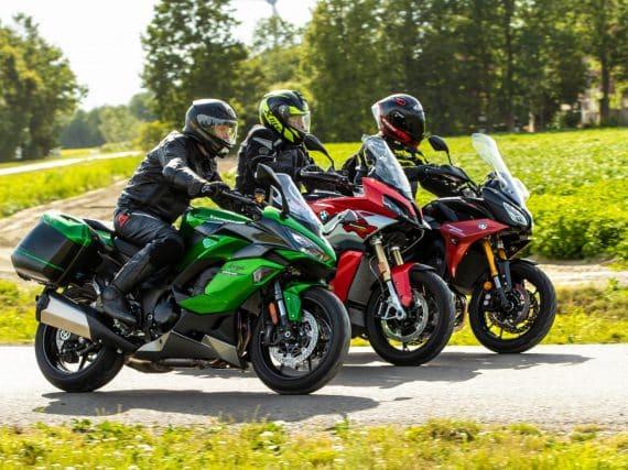 Triotest: BMW S1000XR, Kawasaki Ninja 1000SX en Yamaha Tracer 900GT
