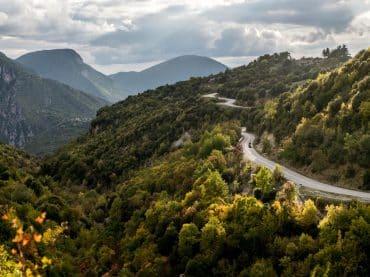 Motorrijden in Noord-Griekenland in de herfst