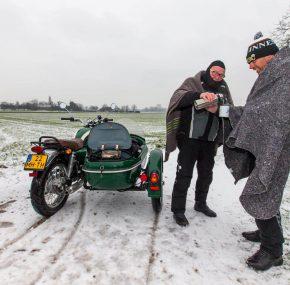Ad van de Wiel: Spannende winterse motoravonturen