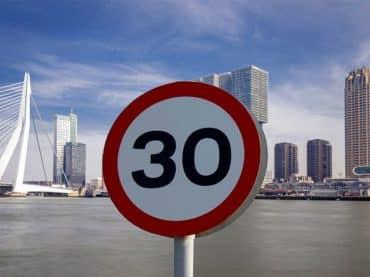 Maximumsnelheid in Rotterdam naar 30 km/u