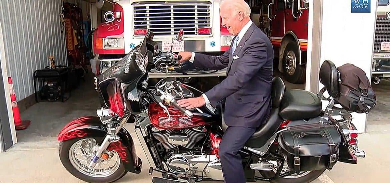 Joe Biden heeft wat met motoren