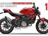 Teleurgestelde ontwerper fikst 2021 Ducati Monster