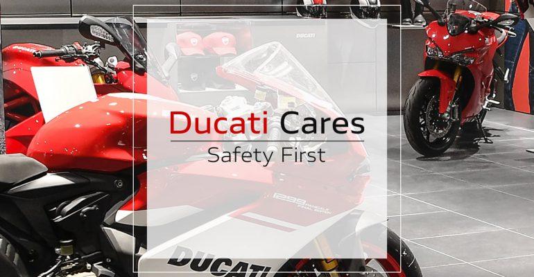 Ducati Cares: showrooms Ducati Dealers gesloten, werkplaats geopend