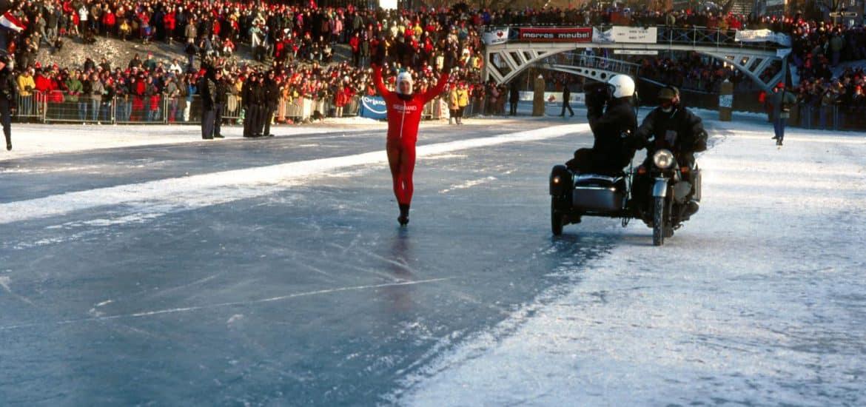 Met de motor op het ijs