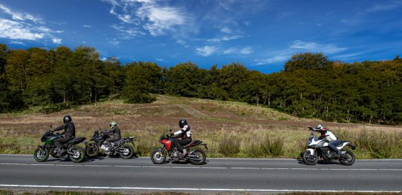 Multitest: CF Moto 650MT, Kawasaki Versys 650, Suzuki V-Strom 650 en Yamaha Tracer 7