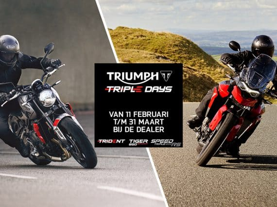 Triumph Triple Days bij de dealers