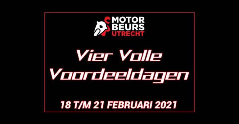 MOTORbeurs Utrecht presenteert de VIER VOLLE VOORDEELDAGEN