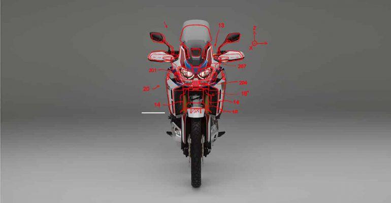 Octrooi: Honda Africa Twin met  radarsensoren