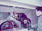 De windtunnel van Moto Guzzi