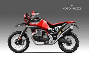 Moto Guzzi terug in de rally-raids? De V85TT zou er zo uitzien