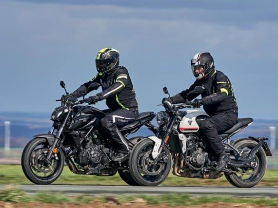 Dubbeltest Yamaha MT-07 vs. Triumph Trident 660