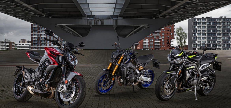 Yamaha MT-09 SP, Triumph Speed Triple RS, MV Agusta Brutale RR