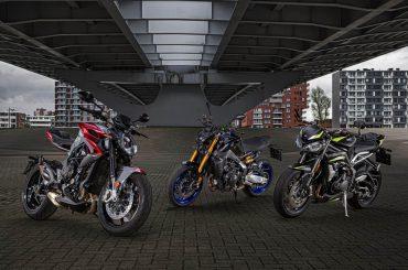 Triotest Yamaha MT-09 SP, Triumph Street Triple RS, MV Agusta Brutale RR