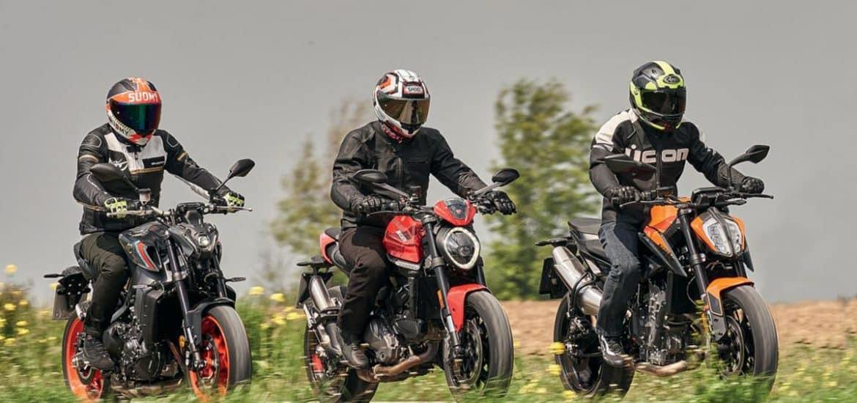 Ducati Monster, KTM Duke 890 & Yamaha MT-09