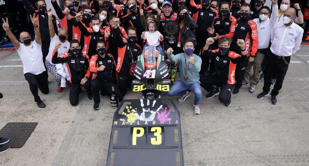 MotoGP-podium Aprilia