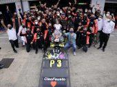 Eerste MotoGP-podium voor Aprilia in beeld