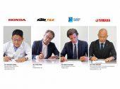 Overeenkomst tussen Honda, KTM, Piaggio en Yamaha voor motorfietsen met verwisselbare accu's