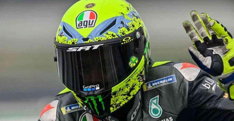 Een blik op Valentino Rossi's afscheidshelm